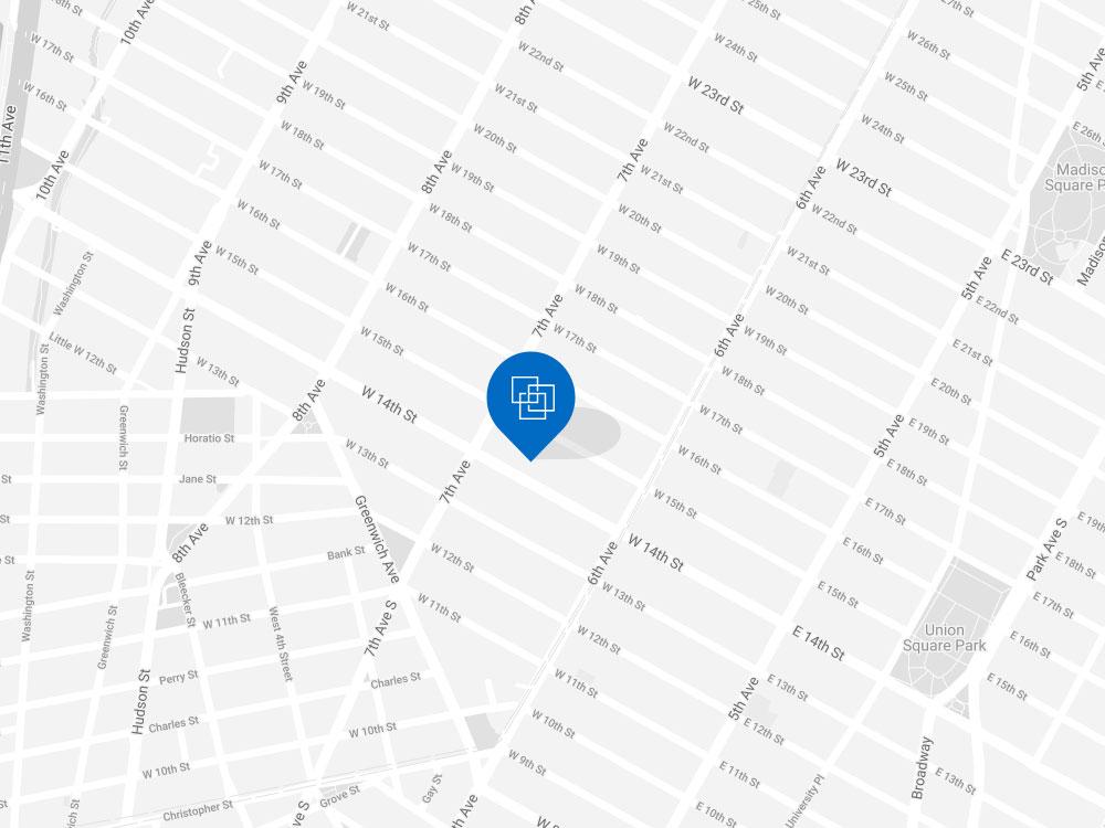 Cardlytics office on New York map